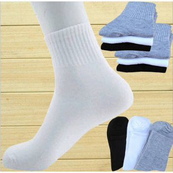 [globalbuy] 10 pairs Fashion Mens socks brand quality polyester breathable Autumn winter c/4213364