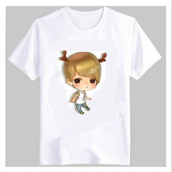 [globalbuy] New KPOP EXO Summer Style Cartoon T-shirt EXO-K EXO-M COMIC Luhan Sehun Baek H/4221659