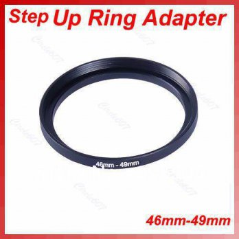 [globalbuy] 5pcs/lot Metal 46mm-49mm 46-49 mm 46 to 49 Step Up Lens Filter Ring Adapter Bl/3694269