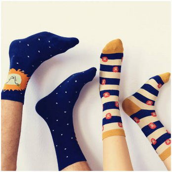 [globalbuy] New Arrival Caramella Lion King Printed Mens Socks Unisex Candy Color Lovers C/4213325