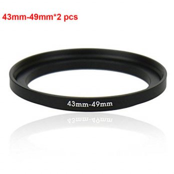[globalbuy] JUST NOW High-quality 2PCS 43-49MM Step-Up Ring Filter Adapter (43MM Lens to 4/3694247