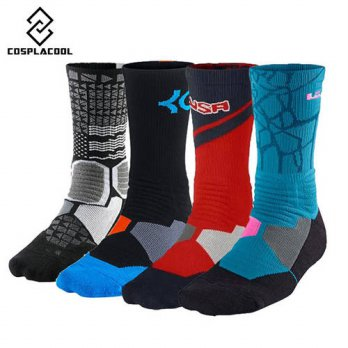 [globalbuy] USA Brand High Quality Crew Socks Combed Cotton Terry Skateboard Socks Winter /4213283