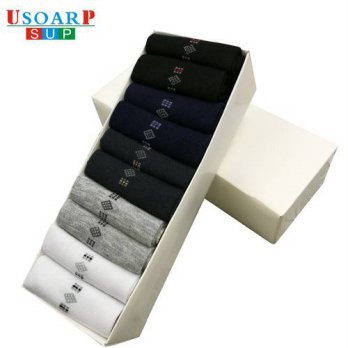 [globalbuy] 2016 New Listing hot sale casual work OL business Diamond Mens Socks High Qual/4213261