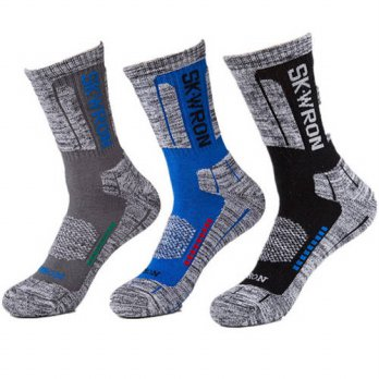 [globalbuy] 3Pair High Quality Brand CoolMax Socks Male Winter Thermal Warm Socks Men Quic/4213241