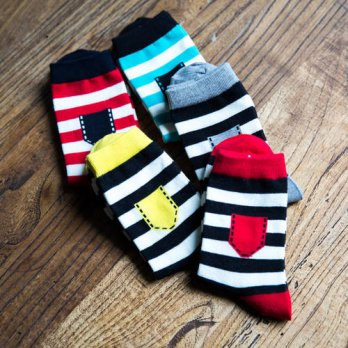 [globalbuy] 2016 New winter/fall socks in the chromatic stripe Cotton socks man printed po/4213231