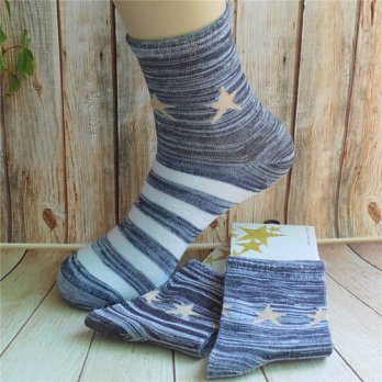 [globalbuy] 5Pairs lot Mens Soft Absorbent Casual fashion Classic Business Brand Thin Soli/4213203
