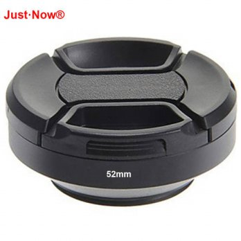 [globalbuy] Just Now Screw-in Mount 52mm Metal Wide-Angle Lens Hood with Lens cap for Cano/3694056