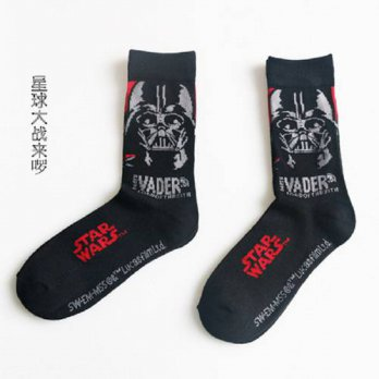 [globalbuy] 2016 New Arrival Star Wars Patterns Good Quality Cotton Casual Socks Men/Women/4213185