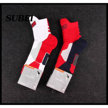 [globalbuy] Colorful USA team customized ankle high 3D cushion cheap socks/4213181