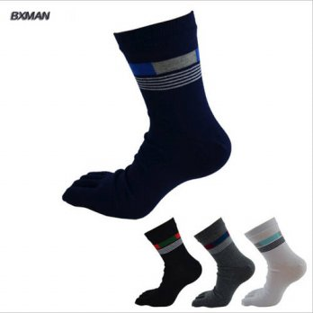 [globalbuy] BXMAN (5 Pairs /lot) Men Socks Soft Cotton Multi-colors Casual Mens Business S/4213179