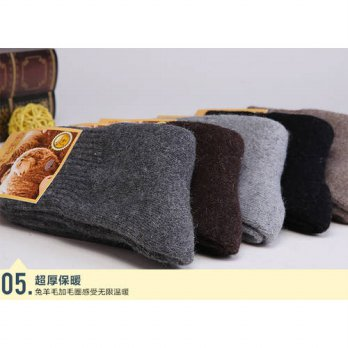 [globalbuy] Warm High Quality stockings10pieces=5pairs Man Socks Mens Winter Warm Woolen S/4213117