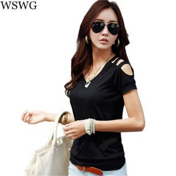 [globalbuy] 2016 poleras de mujer tee shirt women female tops fashion t shirt women t-shir/4221432