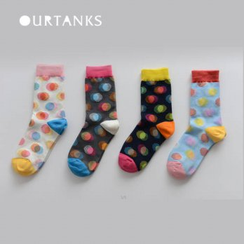 [globalbuy] 12pairs Happy socks British Style rainbow Socks Gradient Color Mens Cotton arg/4213135