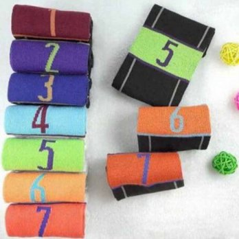 [globalbuy] Creative Suitable Four Season 7 Pairs One Set Socks Week Seven Days Socks Fash/4213126