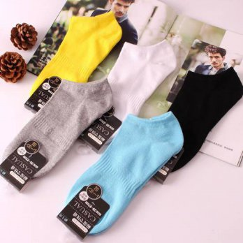 [globalbuy] Summer socks wholesale cotton male ship socks pure color pure cotton men boat /4213124
