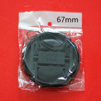 [globalbuy] 100 Pieces DSLR Camera Lens Cap 67mm Protection Front Cover for Nikon Canon Ta/3693924