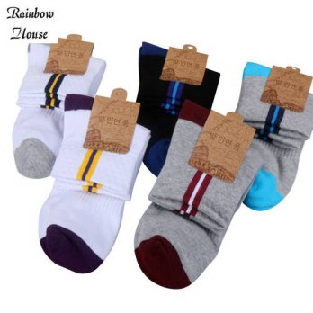 [globalbuy] New 2017 In Tube Men Brand Socks Cotton Polyester Casual Men Dress Socks Fashi/4213104