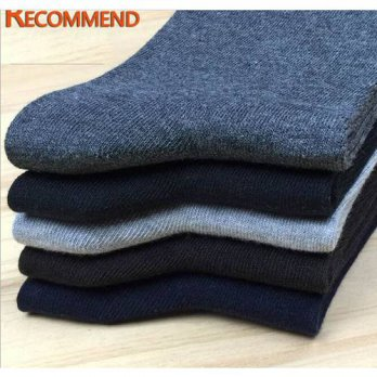 [globalbuy] Socks mens solid color cotton business mens socks double needle autumn and win/4213047