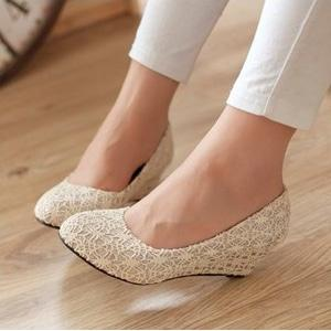 Wedges Pantopel Brukat S01