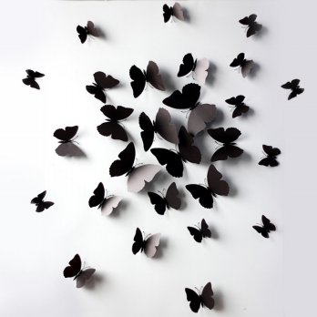 12 Pcs 3D Wall Stickers Butterfly Fridge Magnet for Home Decoration New
