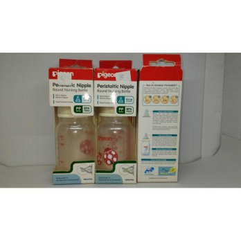 Pigeon Peristaltic Round Nursing Bottle 120ml slim neck 0-3mont
