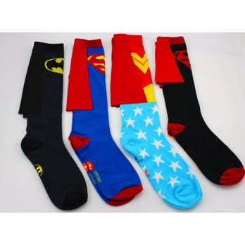 [globalbuy] 24pcs=12pair DC Comics cotton cape superman batman wonder woman elite men Clas/4213017