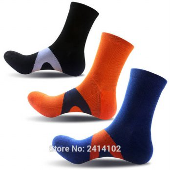 [globalbuy] 3 Pairs NEW Fashion Brand Mens Cotton Socks Quick Dry Thermal Socks Breathable/4212995