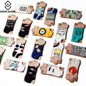 [globalbuy] happy christmas socks 3d socken crazy socks men casual meias men socks warm ca/4213035