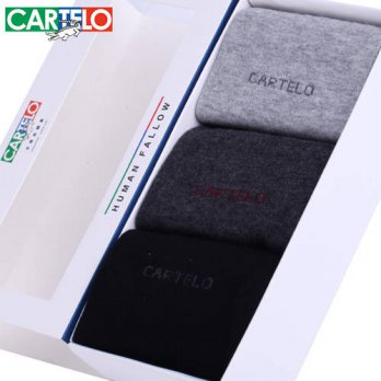 [globalbuy] CARTELO brand autumn and winter mens socks pure cotton socks men in tube socks/4213024