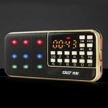 [globalbuy] SAST Fm Radio Sd Card Usb Radio Micro Speakers Digital Stereo FM Receiver Port/3693448