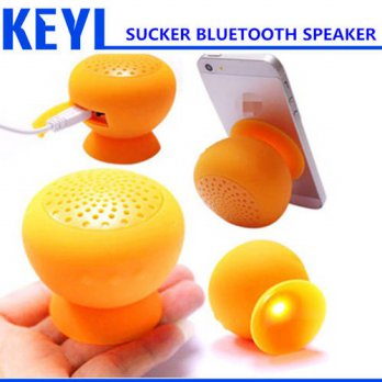 [globalbuy] KEYI High Quality Mushroom Mini Wireless Bluetooth Speaker Waterproof Silicone/3693447