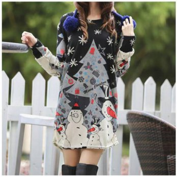 [globalbuy] new 2016 Women autumn winter plus size long-sleeve pullover casual t shirts Sn/4221260