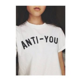 [globalbuy] ANTI YOU Letter Print t shirt Women Sexy Streetstyle Summer Style tumblr t-shi/4221232