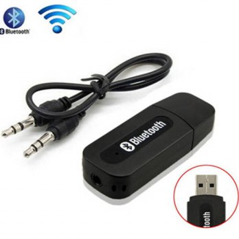 [globalbuy] Mini Media Receiver USB Dongle Kit With 3.5mm Jack Audio Cable Wireless Blueto/3693263