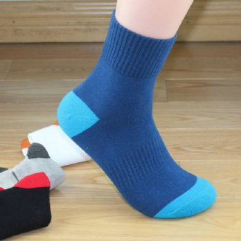 [globalbuy] 5Pair=1Lot Mens Winter Thick Warm Cotton Men Socks Male Crew Thermal Wool Sock/4212890
