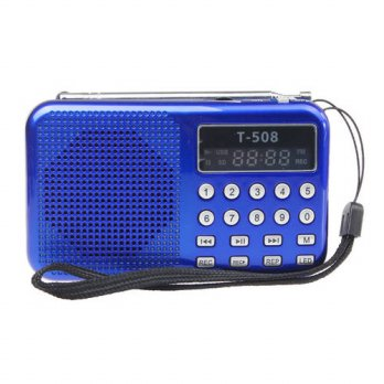 [globalbuy] New Portable Digital Stereo Mini FM Radio Speaker Music Player with TF Card US/3693200