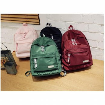 Backpack Tas Ransel Lubang Earphone/Kabel Power Bank - Tas Import Korea BP 222