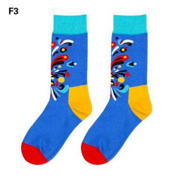 [globalbuy] Mens Socks British Style Gradient Color Brand Elite Long Cotton for Men Wholes/4212214