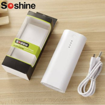 [globalbuy] Soshine E4C Portable Mobile power bank box shell 2 x 18650 battery charger wit/3691734
