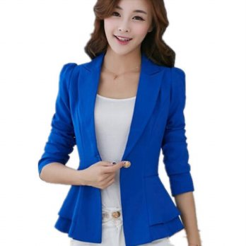 [globalbuy] Womens long sleeves Blazers Korean short Women suit jackets Slim women suit ja/4220351