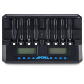 [globalbuy] ANDEL 8 Slots Battery Charger Rechargeable Battery LCD Display Smart Charger A/3691673