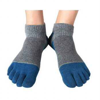 [globalbuy] 1 Pairs Mens Five Finger Toe Socks Casual Cotton Mesh Breathable Absorbent Ank/4212163