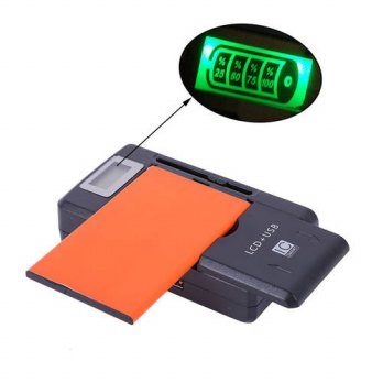 [globalbuy] Pro Universal Mobile Battery Charger LCD Indicator Screen For Cell Phones 1 US/3691639