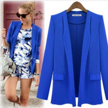 [globalbuy] Candy Color Loose Women Blazer Autumn 2016 New European Style Female Long-Slee/4220297