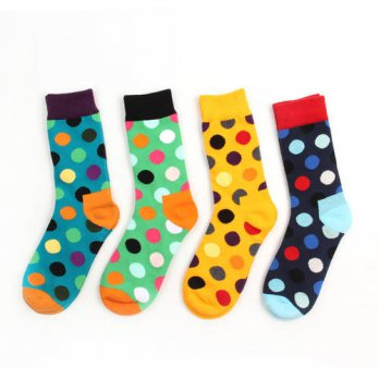 [globalbuy] new design high quality cotton autumn winter creative contrast color dots fash/4212130
