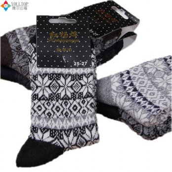 [globalbuy] 2016 winter men Wool socks Warm socks Snowflake thick winter Thermal socks who/4212089