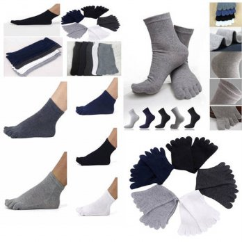 [globalbuy] 1 pair Men Socks Ideal For Five Finger Antibacterial deodorant Prevent beriber/4212083