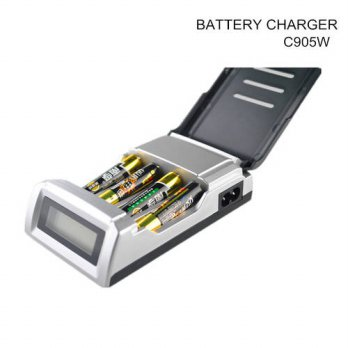 [globalbuy] C905W Standard Battery Charger With LCD dispaly 4 Slots Smart Charger for 1-4 /3691524