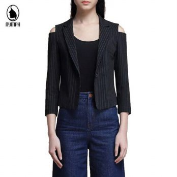 [globalbuy] 2016 New Autumn Women Blazers Clothes Slim Bodycon Top OL Jacket Coat Lapel On/4220182