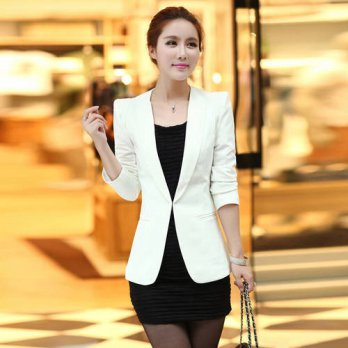 [globalbuy] , 2016 new fashion womens blazers, Korean version long section womens jacket, /4220149